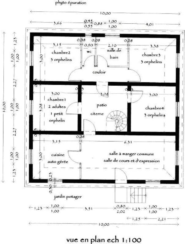 Pr projet de reconstruction des maisons d tuites lors du for Plan de maison f5